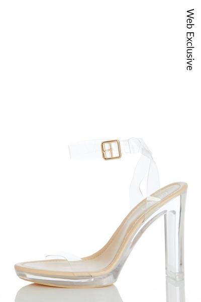 Nude Clear Thin Heeled Sandal